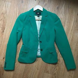 H&M kelly green blazer
